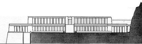Храм царицы Хатшепсут, фасад