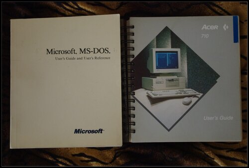 Описания MS-DOS и Acer-710. 1988 год.