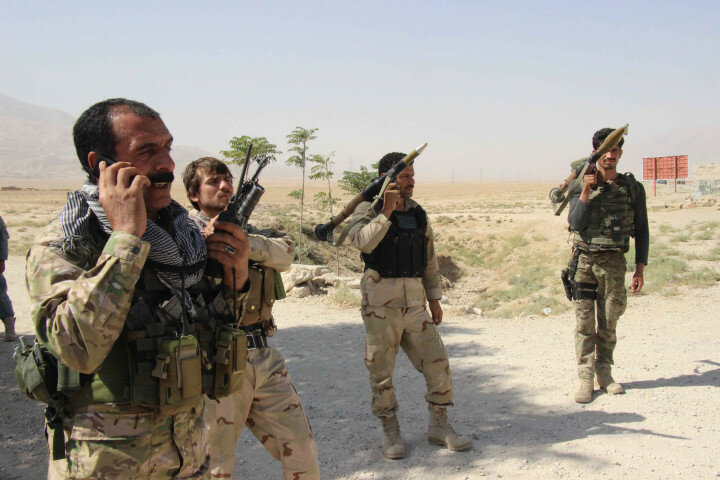 Afghan Special Forces fight off Taliban at Balghan check point