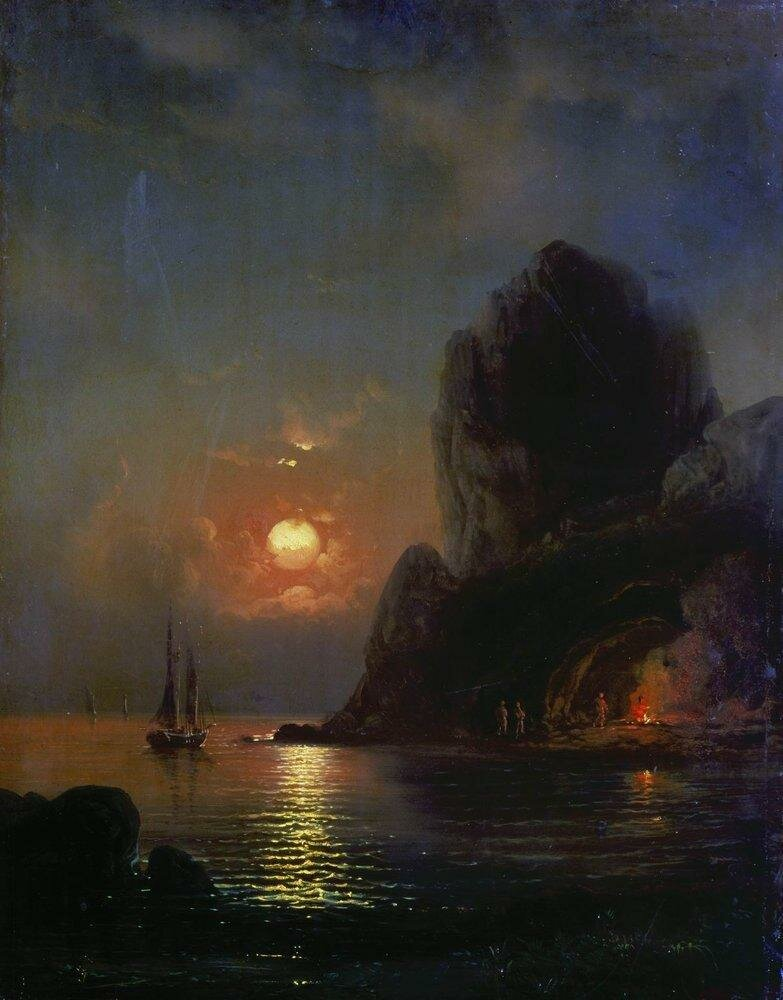 Лунная ночь на море. 1871.jpg