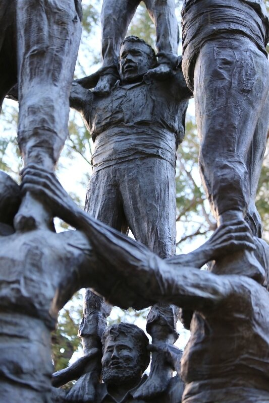 Tarragona. Monument to the human towers