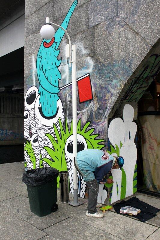 Создание граффити перед АртПричалом