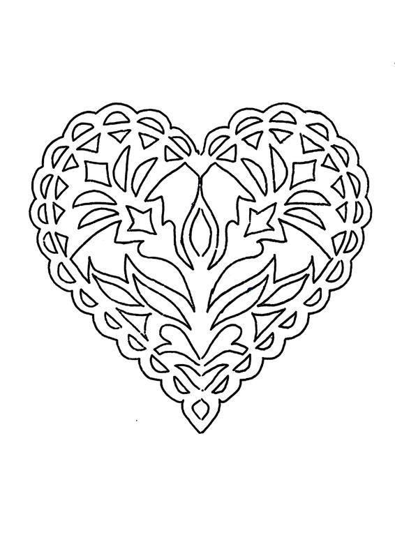 Ажурные сердечки открытки