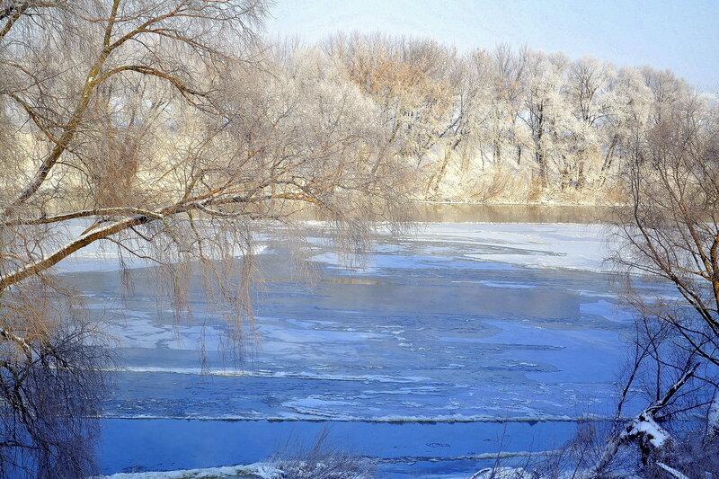 картинки речка во льду