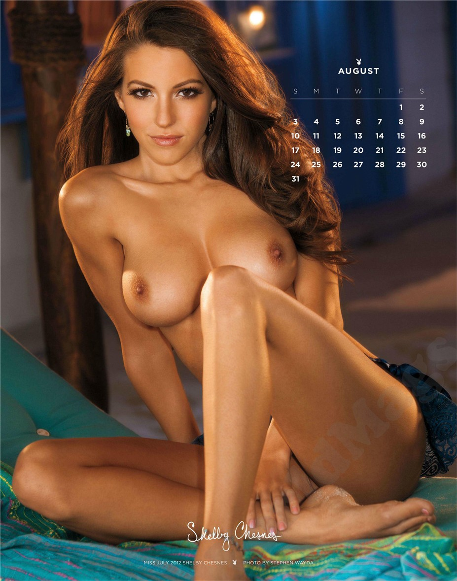 august - Playboy USA playmate calendar 2014 / Shelby Chesnes - Miss July 2012