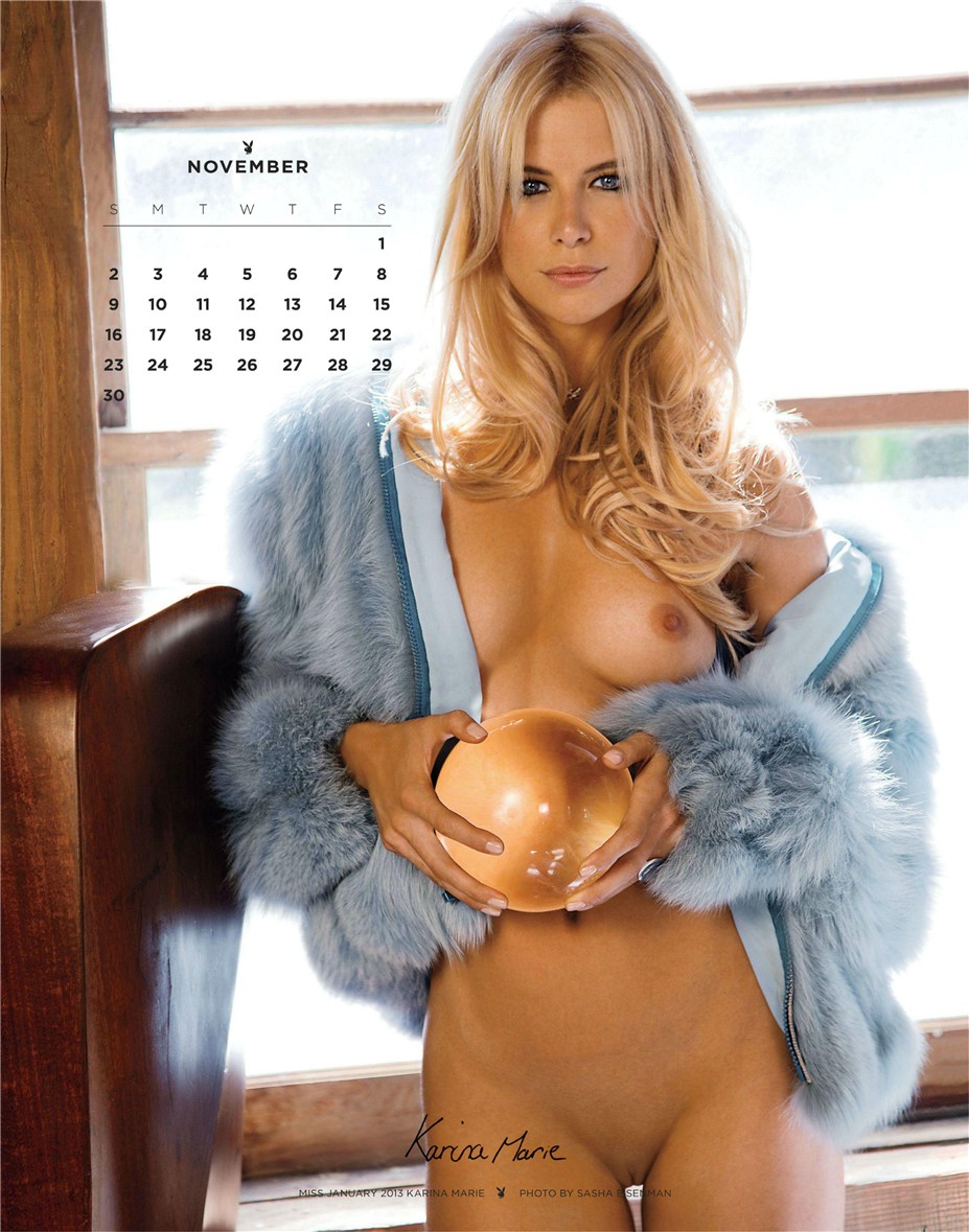 november - Playboy USA playmate calendar 2014 / Karina Marie - Miss January 2013