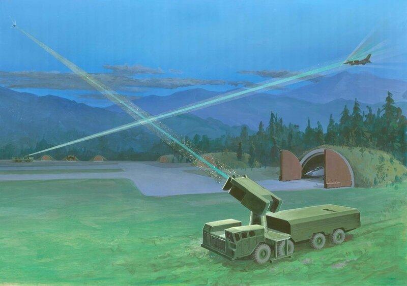 Оборонительное лазерное оружие