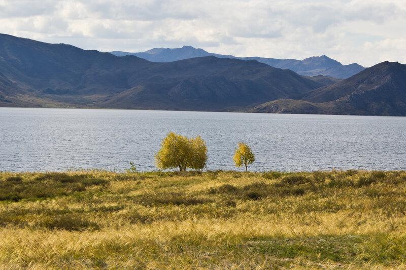 осень на Бухтарминском водохранилище