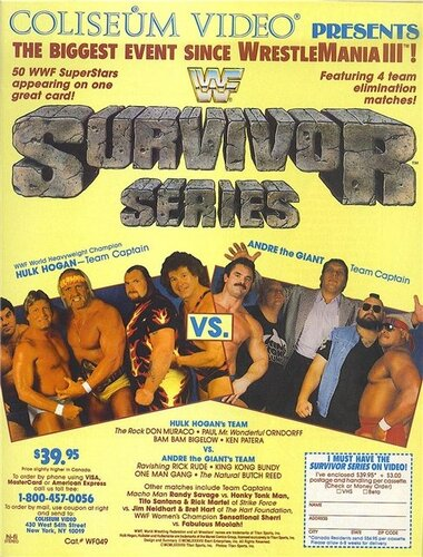 Post image of WWE Survivor Series 1987