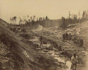 Земляные работы и устройство полотна 479 пикета на 540 версте. 1894 - 1897