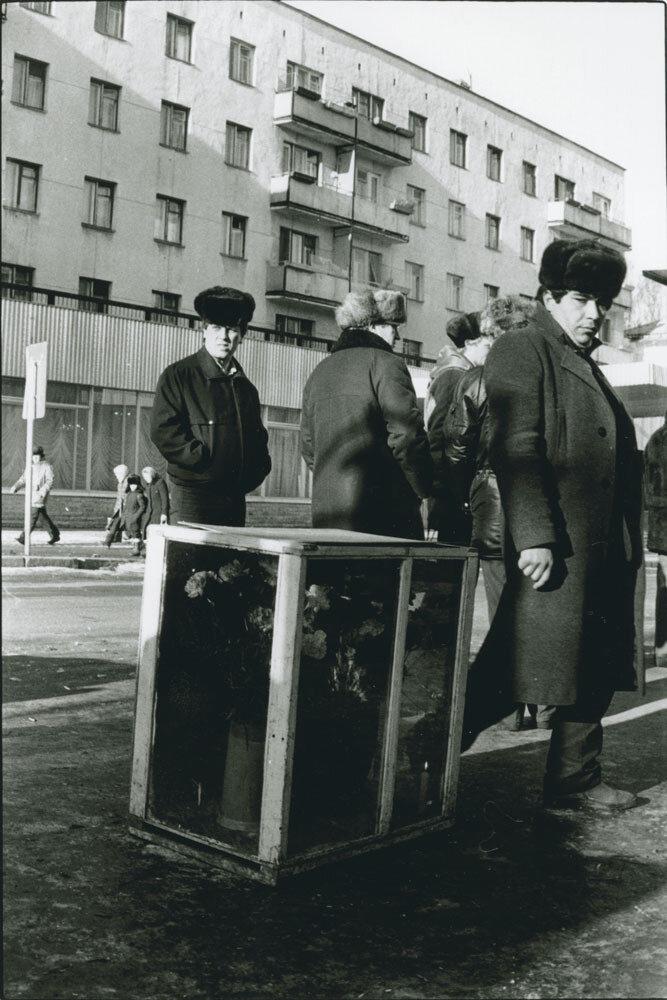 Грузины-продавцы цветов, Москва, СССР, 1989