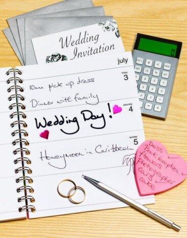 подготовки к свадьбе.