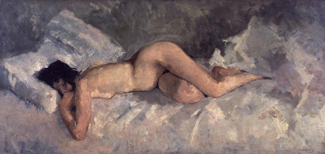 Лежащая обнажённая (1887) Георг Хендрик Брейтнер (1857–1923)