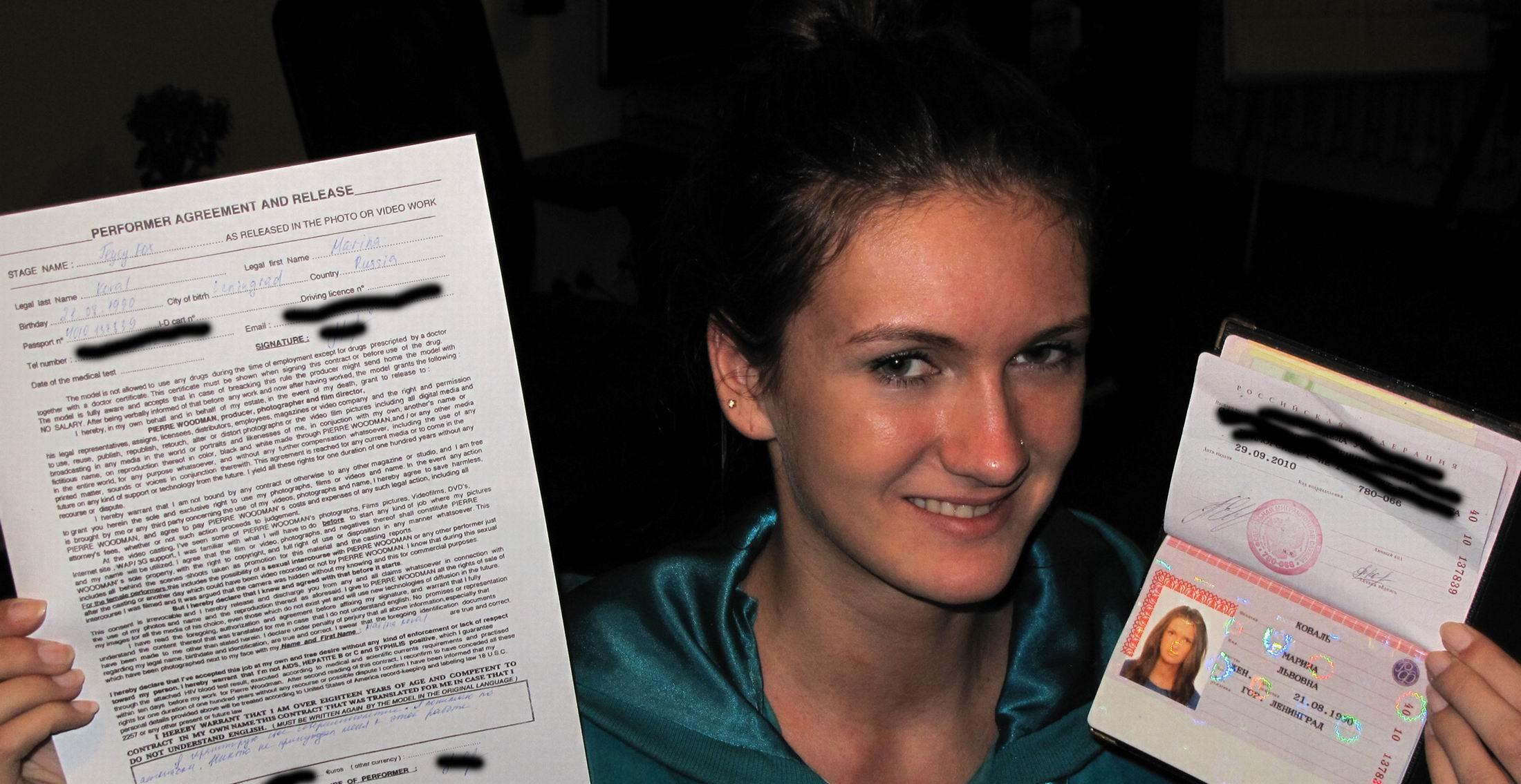 Украинская девушка у вудманом 6 фотография