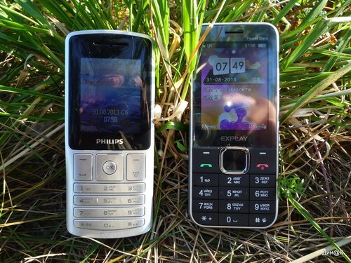 Philips Xenium X130 и Explay Power Bank (внешний вид)