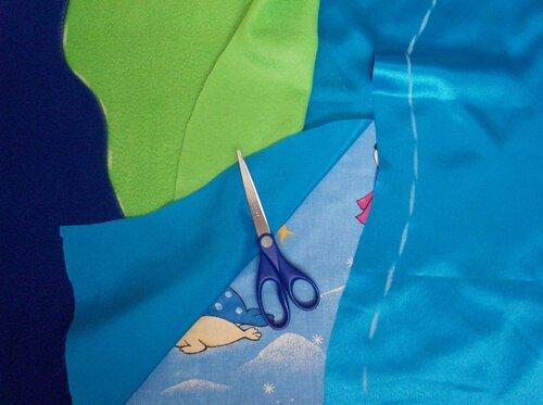 Развивающий коврик своими руками... кроим основу моря