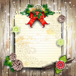 Sheet for card with pine cones
