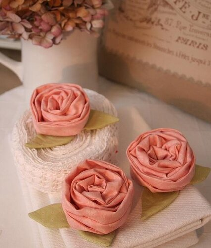 розы из ткани выкройки.
