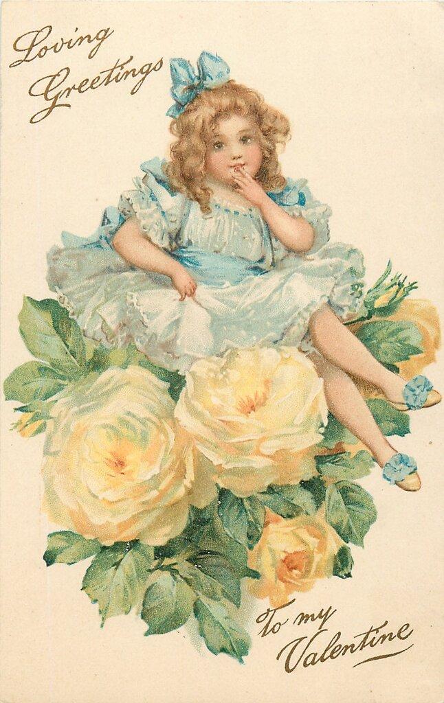 Старинные открытки женщин
