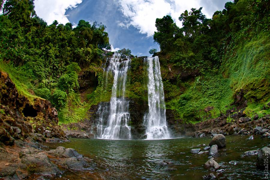Laos, Pakse, плато Болавен Bolaven Plateau, Водопад Тат Юанг Tat Yuang
