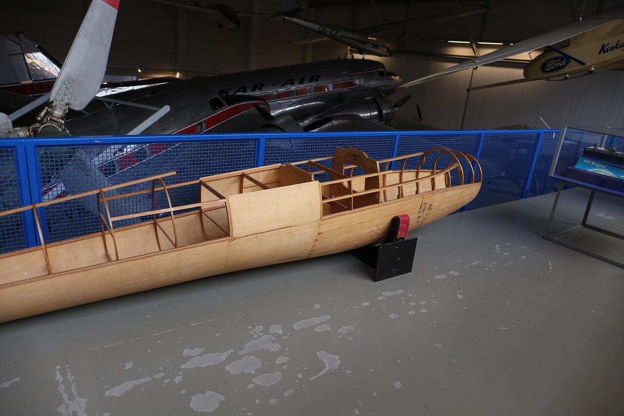Helsinki-Vantaa Air Museum. Glider