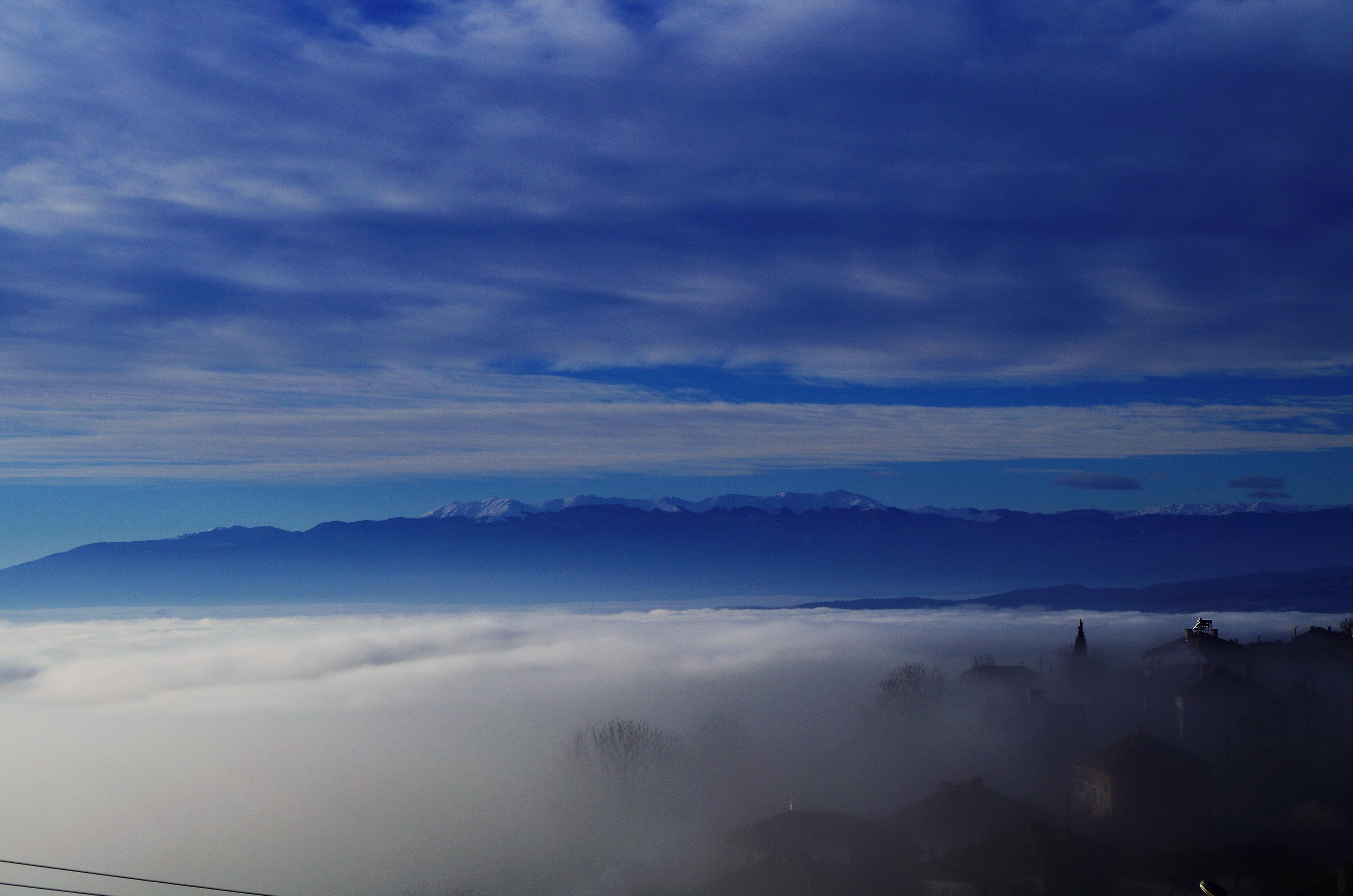 Облако по деревне