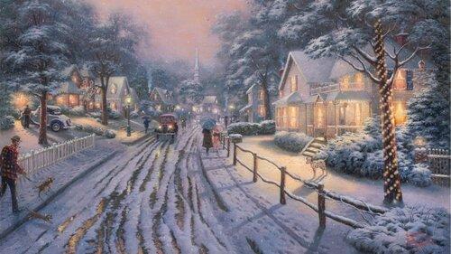 Зима художника Томаса Кинкаде