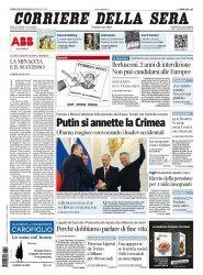 Журнал Il Corriere della Sera (19.03.2014)