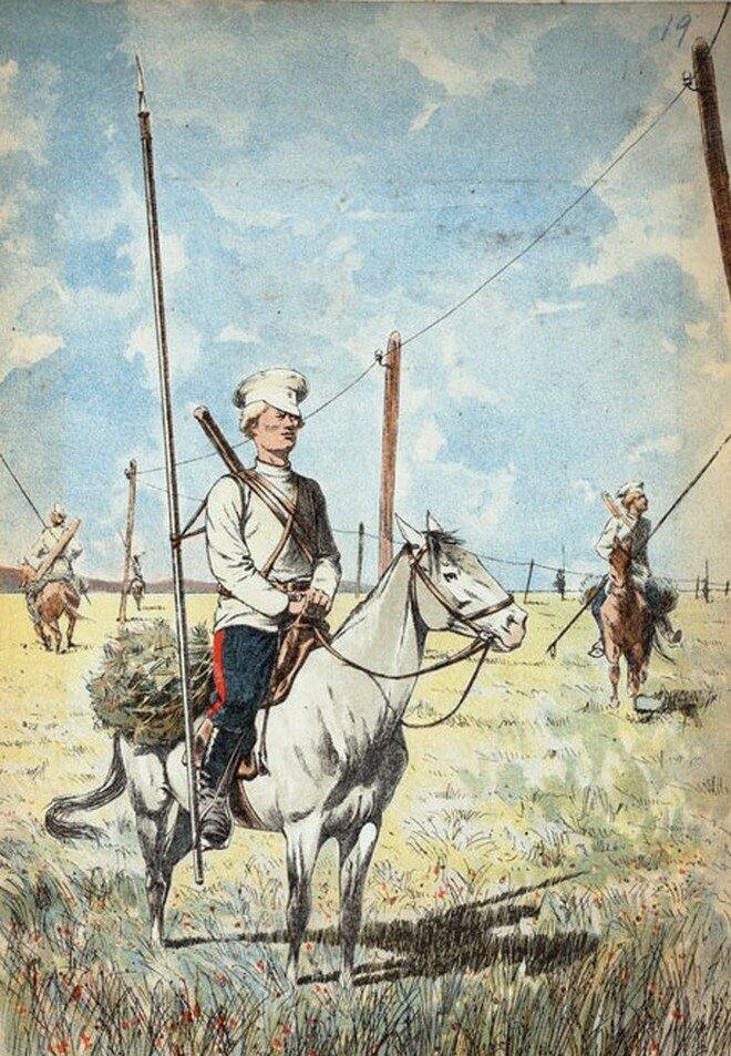 казаки и телеграф