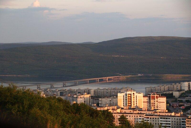 Мост через Кольский залив. Время 03:21