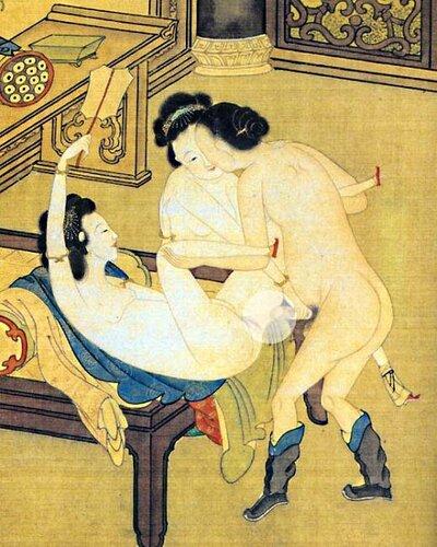 春画 Средневековой японский бордель.