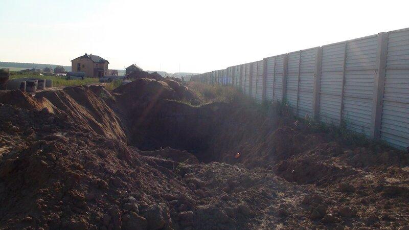 Котлован под канализационно-насосную станцию
