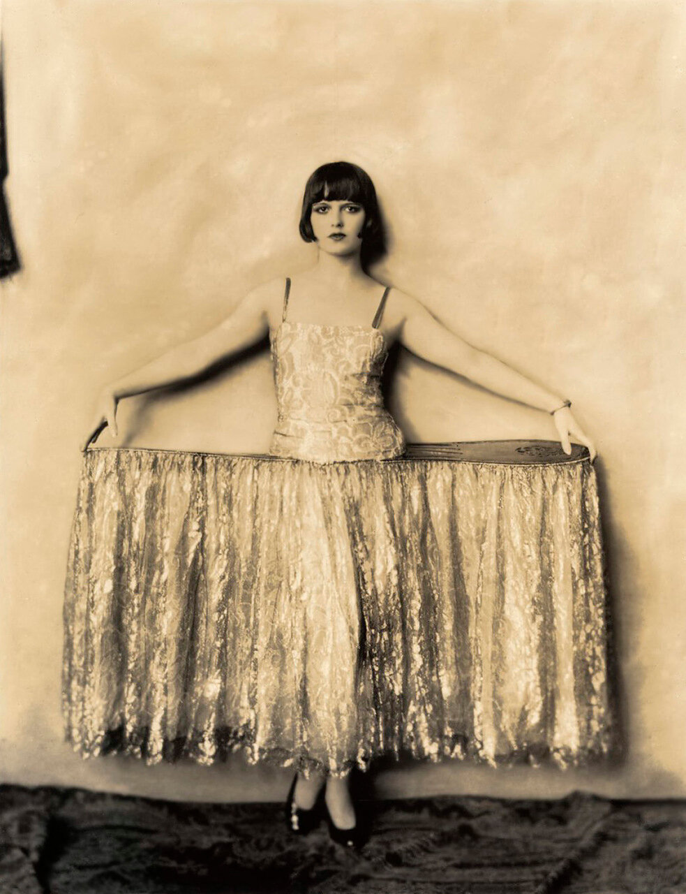 Louise Brooks - Ziegfeld - c. 1925 - Showgirl Costume With Panniers - By Alfred Cheney Johnston.