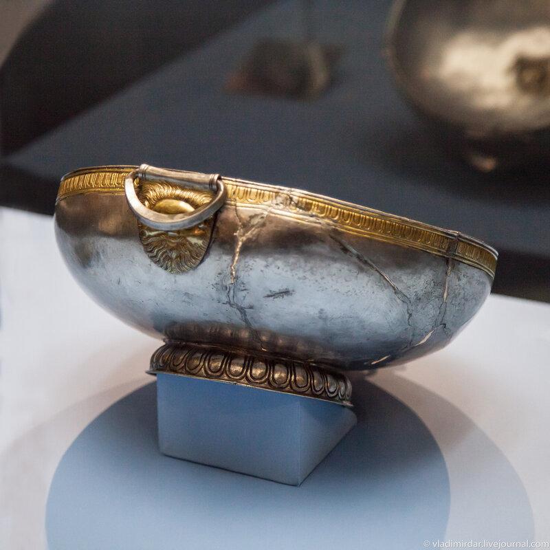Серебряная ритуальная чаша