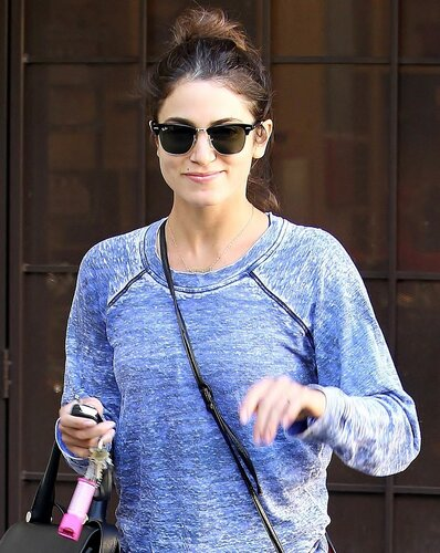 Actress Nikki Reed was spotted in Toluca Lake. The thesbian had her hair up, wearing shades and gym gear, on Saturday, November 2, 2013. X17online.com