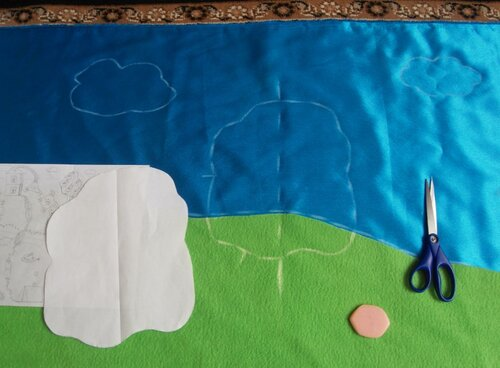 Развивающий коврик для детей... делаем сами выкройки
