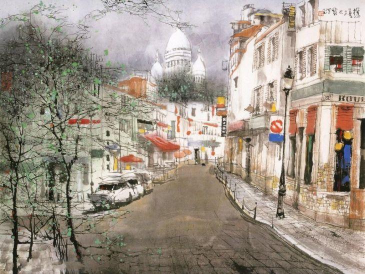 Чернила китайского художника Liu Maoshan