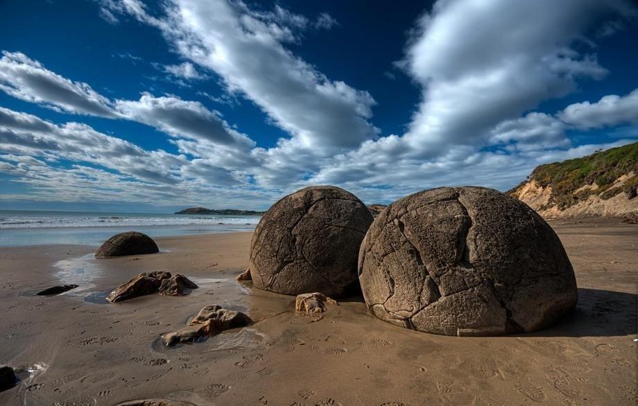 валуны Моераки (Moeraki  Boulders)