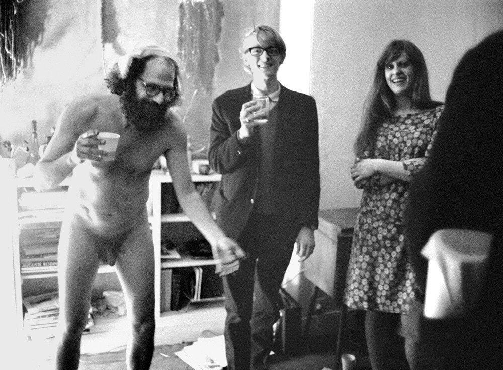 John 'Hoppy' Hopkins.Allen Ginsberg at his 39th birthday party, June 3rd, 1965.
