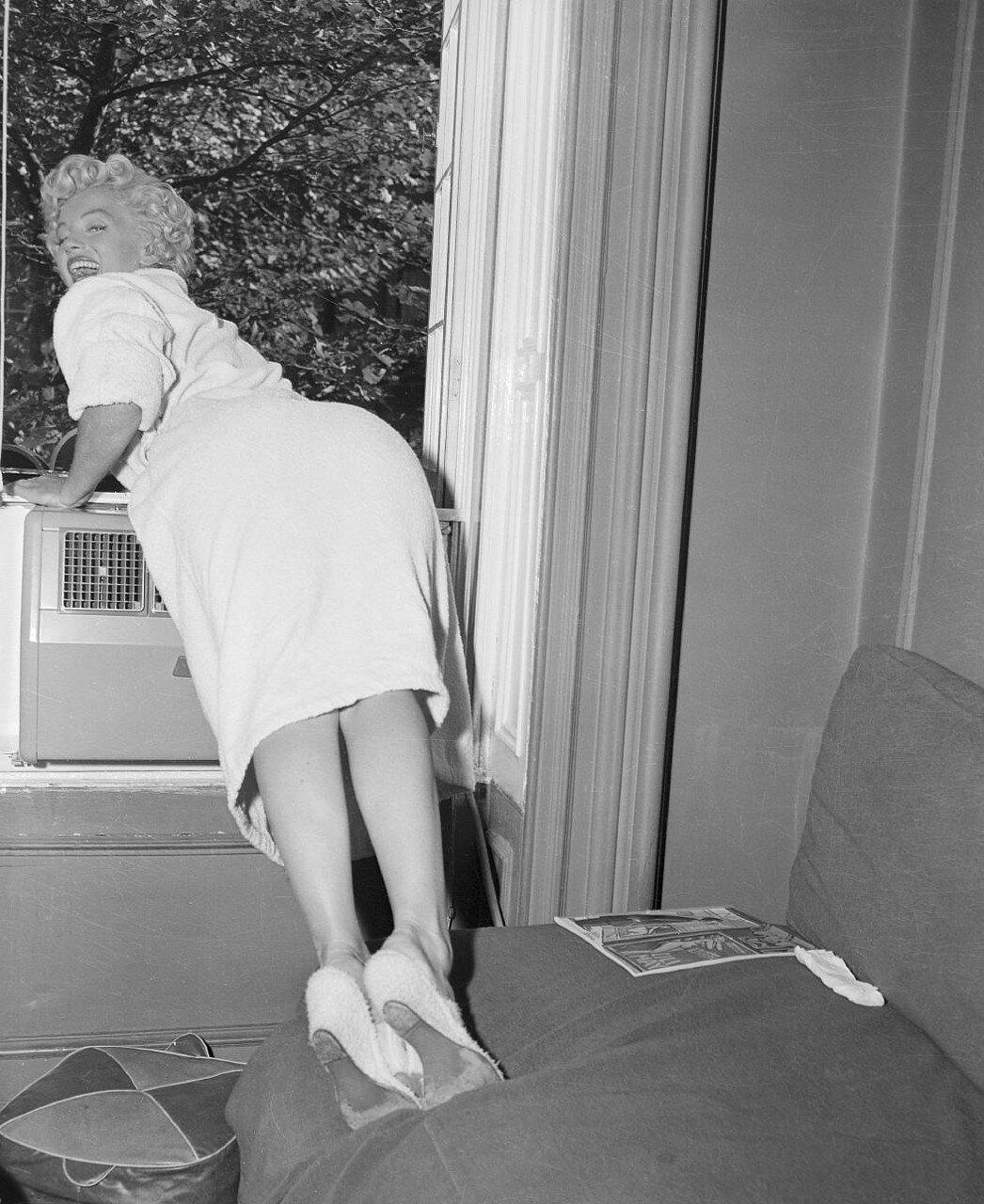 Mariyln Monroe Leaning on Window Sill