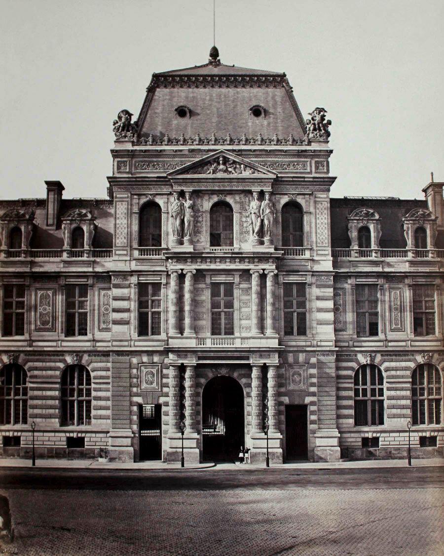 1855. Рю де Риволи. Павильон Библиотеки