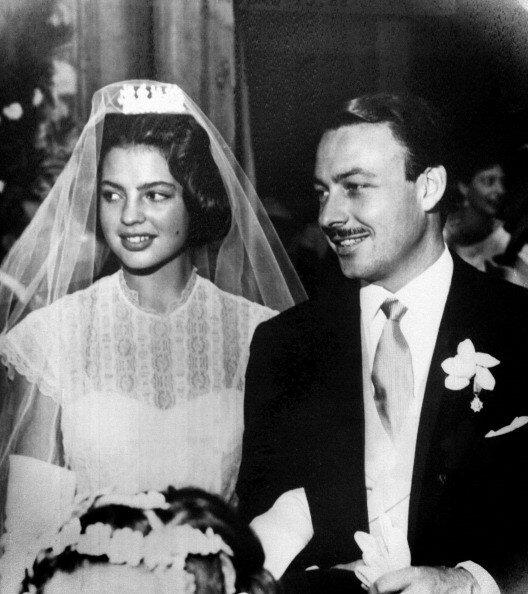 """Princess Ira Von Furstenberg And Prince Alfonso Von Hohenlohe-Langenburg""""S Wedding In 1955"""