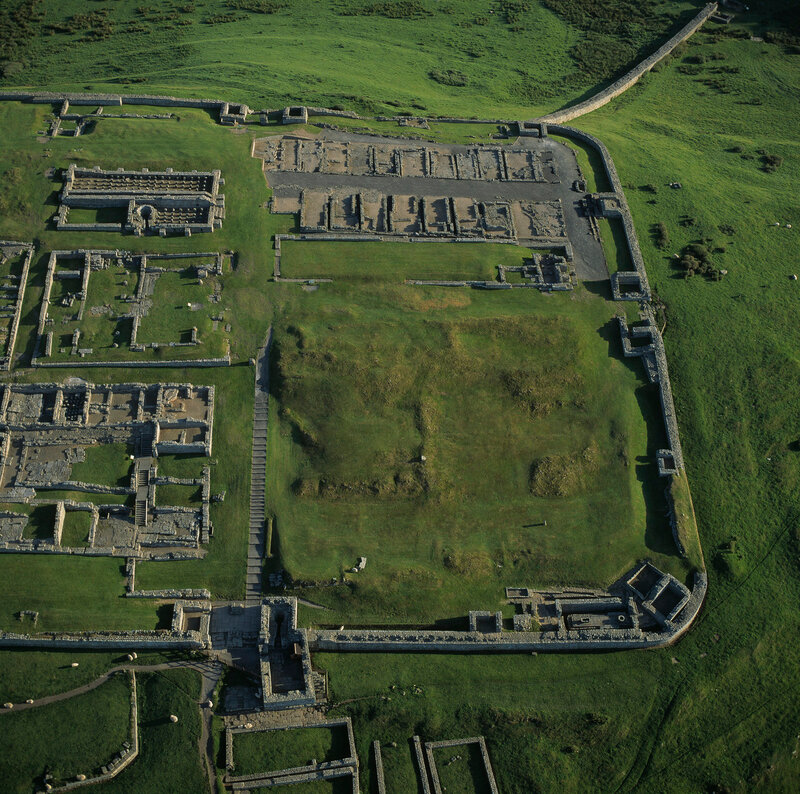 Housestead's Roman Fort Ruins on Hadrian's Wall