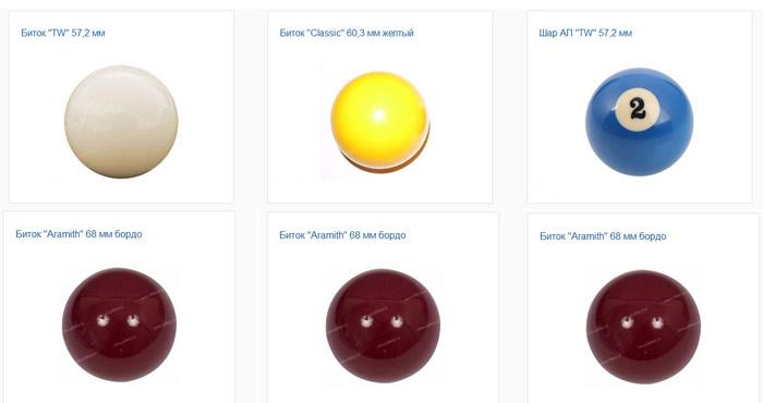 Главные критерии при выборе шаров для бильярда