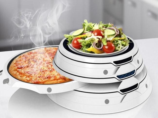 © Haimo Bao  Ваш гениальный подогреватель сохраняет нужную кондицию пиццы, теплого салата ипр
