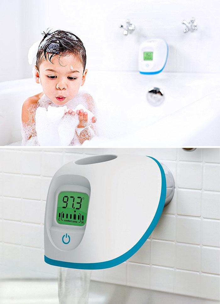 Насадка на кран 4moms, которая предупреждает об изменении температуры воды, если стала идти слишком