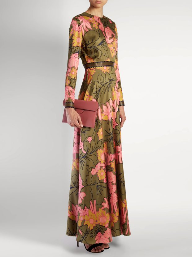 ROKSANDA Kamenev wood-flora print silk gown