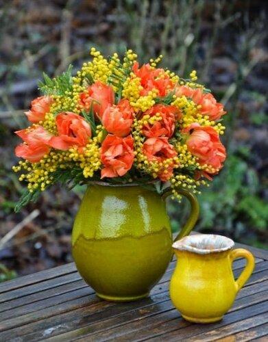 10 идей с весенним солнечным цветком мимоза