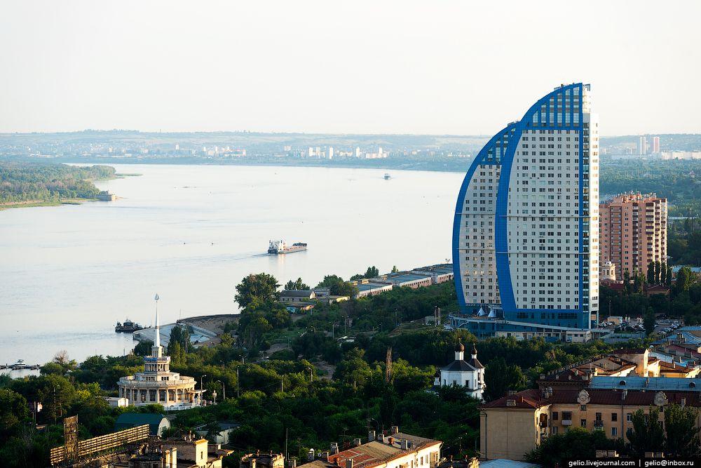Волгоград с высоты! Красивые фотографии   панорама российского города миллионника