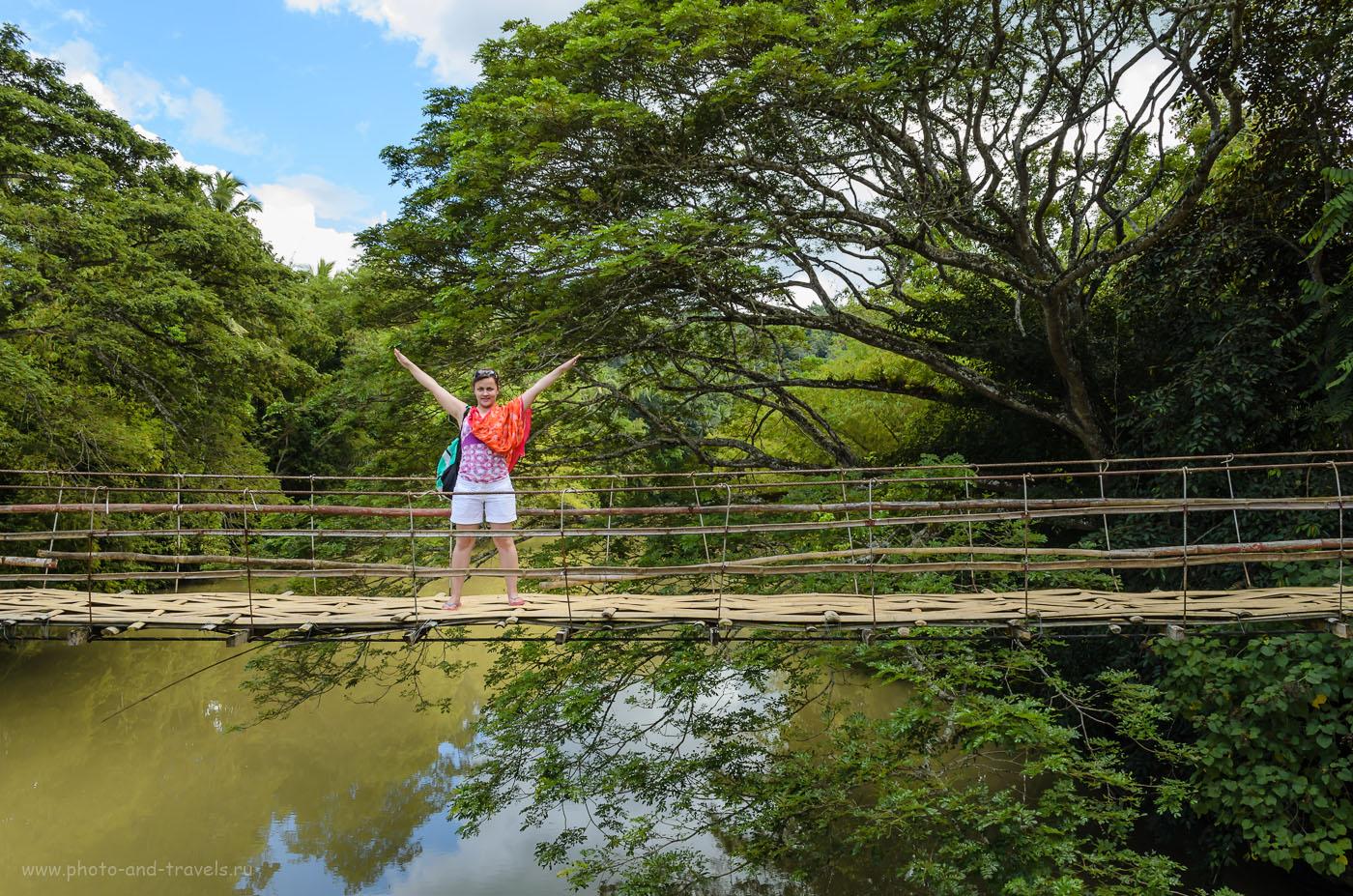 Фото 7. Подвесной мост через реку со смешным названием Лобок (Loboc River) на острове Бохоль, что на Филиппинах. Как снять интересный фотоотчет. 1/80, 10.0, 200, 18.